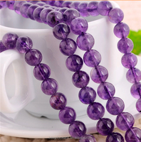 8mm natural round AA grade gemstone beads bulk wholesale amethyst