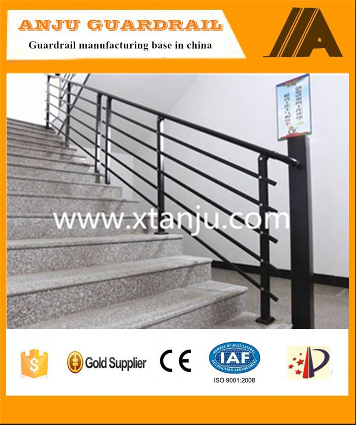 Decorative wrought iron stair railings with ISO certified AJ-Stair 007
