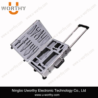 promotional hairdressing aluminum case/professional trolley case
