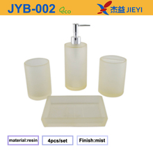 2016 fashion Beautiful polyresin white transparent bathroom accessory