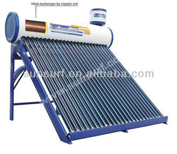 SunSurf New Energy SC- P01 Pre Heating/heated Pressure Solar hot Water Heater with Copper Coil inside