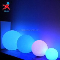 different size glass ball LED table lamps