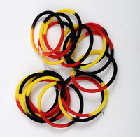 Mixed Colors Segmented Round Silicone Band In Stock