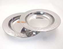 wholesale stainless steel dinner plate food dish plate charger for wedding charger plates