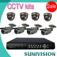 CCTV Manufacturer!!! 8ch cctv dvr kit Security camera system 1080p AHD camera kit security cameras wired kit