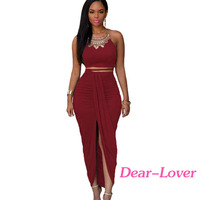 New Arrival Hot Sale Elegant Two Piece Maxi Skirt Set For Women