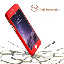 2016 new 360 degree full coverage phone case with tempered glass screen protector for iPhone 6 , waterproof for iPhone 6 plus .
