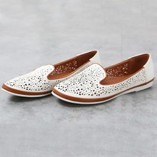 Cutout Small Holes Women Loafers Flats Shoes Slip On Casual Footwear Female