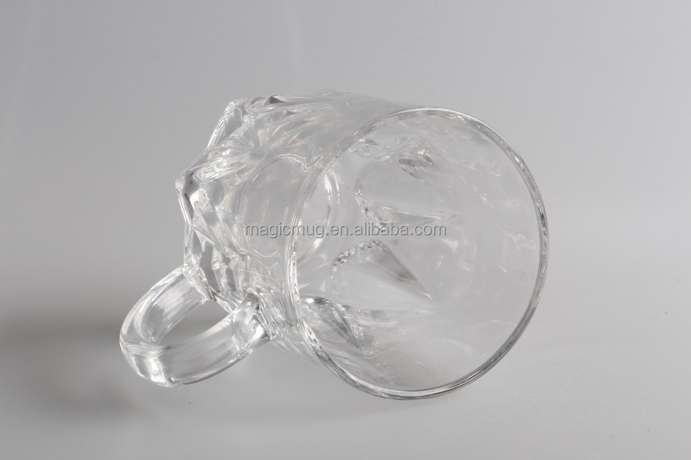 500ml Promotional Frost Glass Beer Mug With Color Changing Magic