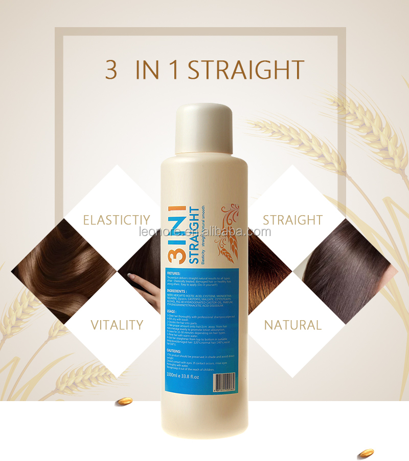 3 in 1 Hair Straightening pem lotion, Cream for professional use