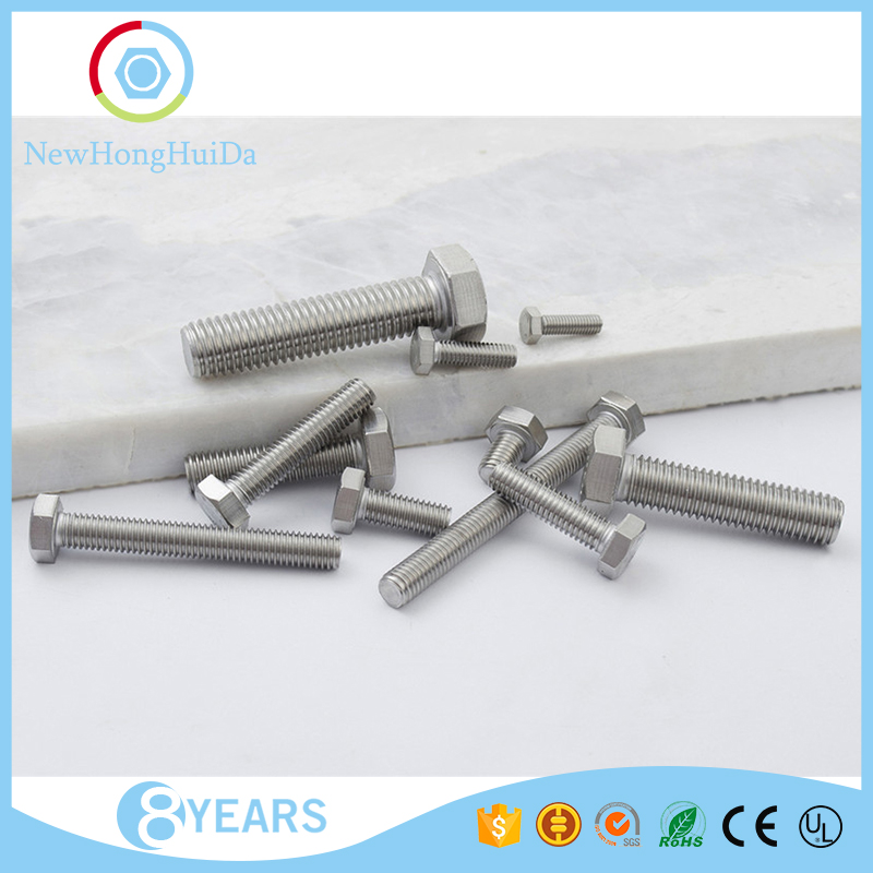 Wholesale best quality M6 <strong>sizes</strong> stainless steel hexagon machine <strong>screw</strong>