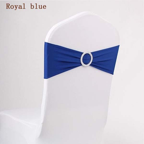 new fashion wedding spandex chair band with crystal diamond buckle