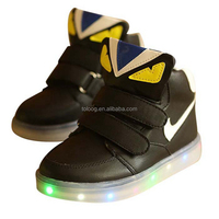 Spring Monster Eyes High Top LED Light Up Shoes Slippers Makers In China
