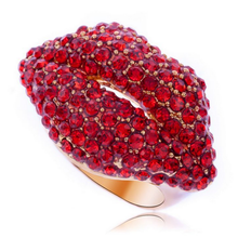 Unique Fancy Red Flaming Lips Fashion Women Finger Ring