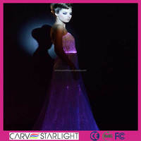 Luminous light up led glow in the dark evening dresses