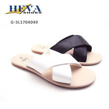 Basic Casual Slip-on Sandals Cross Strap Slipper Comfortable Fashionable Summer Flats For Women
