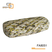 New material PU leather iron glasses case
