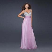 ZH1127F New fashion deep V neck evening dress sexy prom sequins full dress for wedding party