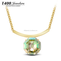 T400 2015 new fashion necklace 18k Gold Jewelry and big crystal necklace