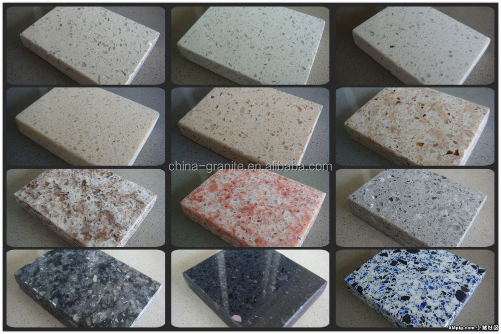 artificial pink quartz stone countertops slabs for kitchen/bathroom/tile