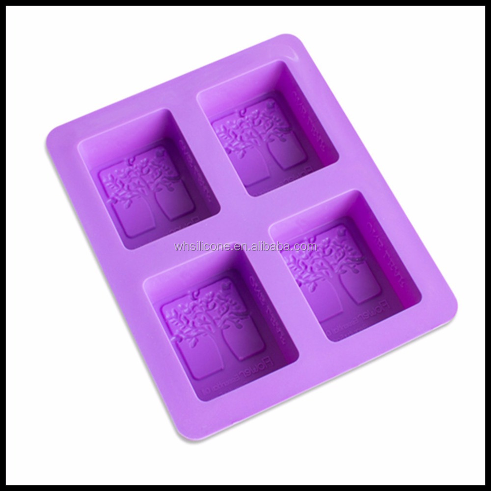 Custom reusable silicone soap molds with freely logo