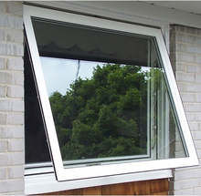 Fashionable villa grill single glass top hung aluminum window