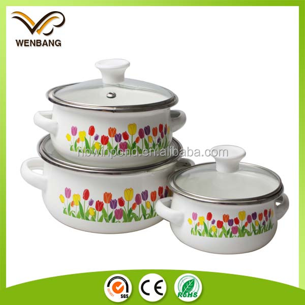 custom logo glass lid casserole set cookware set removable handles