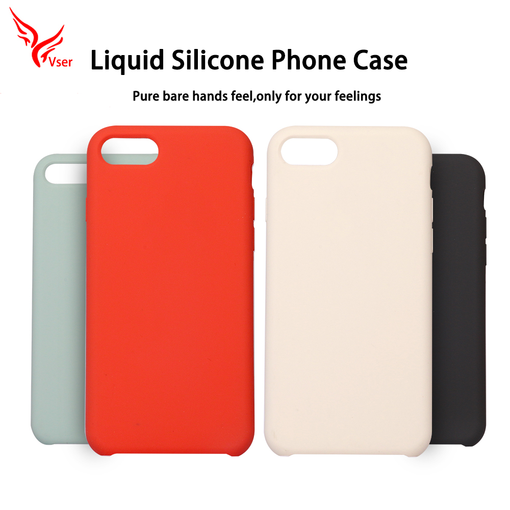 2018 Hot selling luxury microfiber soft-touch liquid silicone mobile phone case cover for iphone 5 5s se