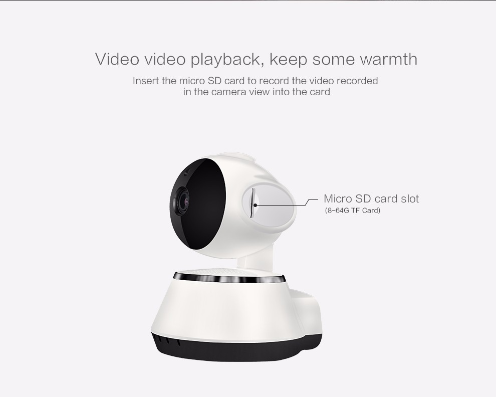 Pan and Tilt 720P professional home security P2P wifi IP network camera Y102