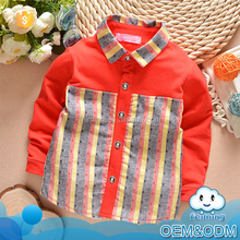China suppliers wholesale factory price striped long sleeve turtleneck boys fashion organic cotton custom t shirt
