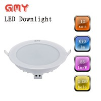 All plastic structure 12W led downlight housing