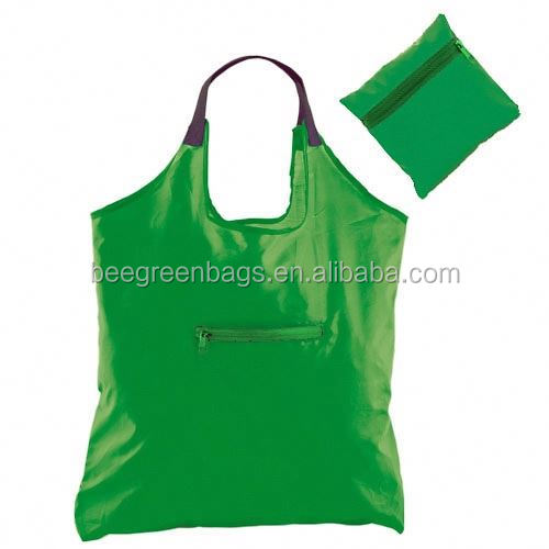 BeeGreen Packable 190T polyester shoulder carry mini tote bags wholesale