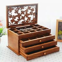 new unique design display packing flax jewelry wooden box