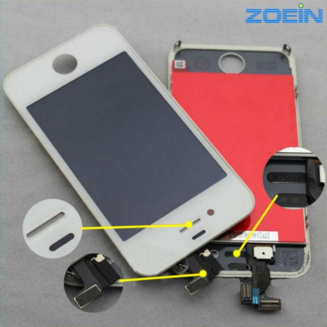 100% Guarantee No Dead Pixel LCD Screen Replacement For iPhone 4S LCD Display With Digitizer Touch Screen Assembly Complete