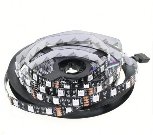 A2 LED Strip 5050 Black PCB DC12V Flexible LED Light 60 LED/m 5m/lot <strong>RGB</strong>