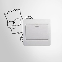 Colorcasa wholesale vinyl switch sticker boy face switch decoration waterproof wall sticker removeable wall sticker(ZY328)