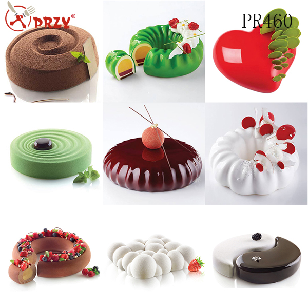 French dessert mousse cake silicone baking mold