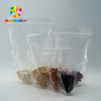 mylar ziplock plastic bags clear stand up pouches with zipper