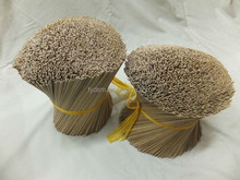 Machine made dark round bamboo incense sticks