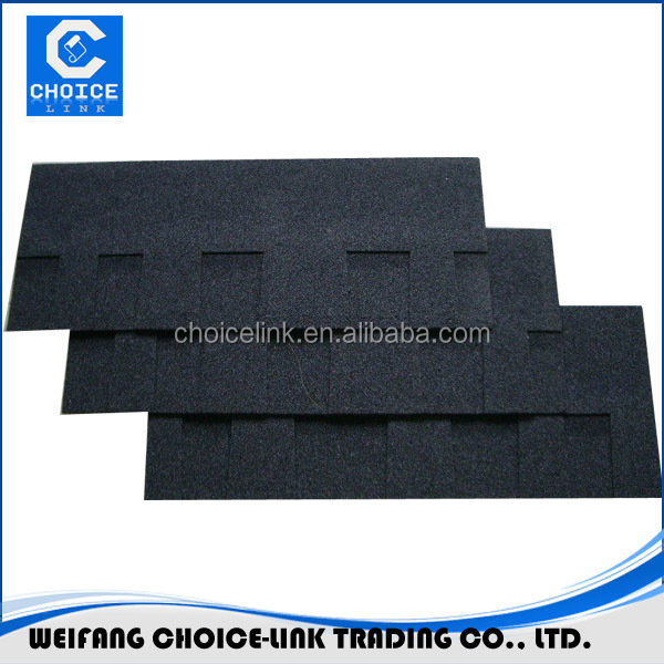 Chinese red color round shape fiberglass roofing felt/asphalt shingle