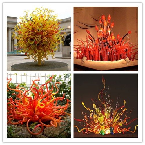 Hand Blown Glass LED Lighting Decoration Modern Crystal Chihuly Chandeliers
