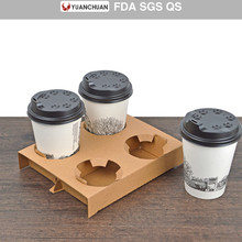 Free samples paper cup holder tray carrier for coffee shop