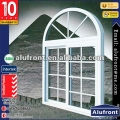 Aluminum Frame Glass Sliding Window With Arch Part & Grid