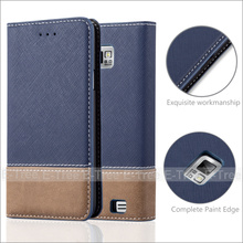 Invisible Magnet Jean Fabric Wallet Phone Case Cover With Card Holders for Samsung Galaxy S2