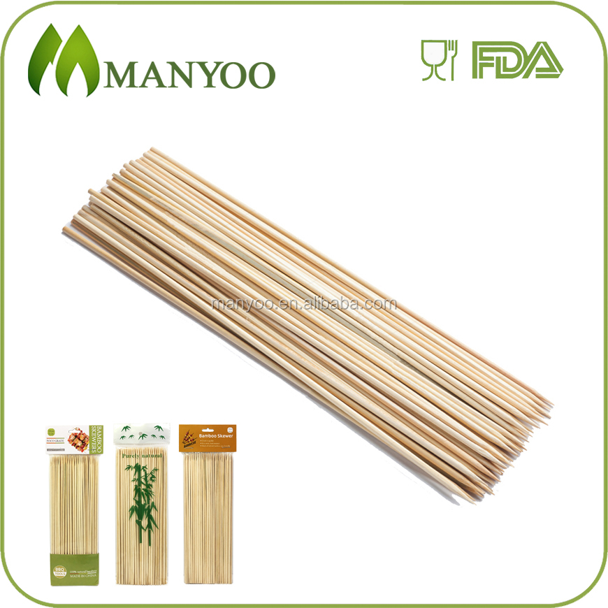 Premium quality bamboo and wooden sticks for food