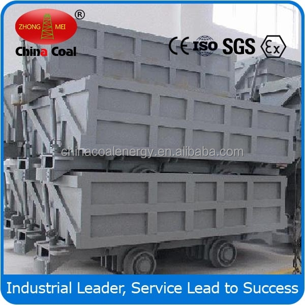 1t self weightSingle-side Curved Rail Dumping Mine Car