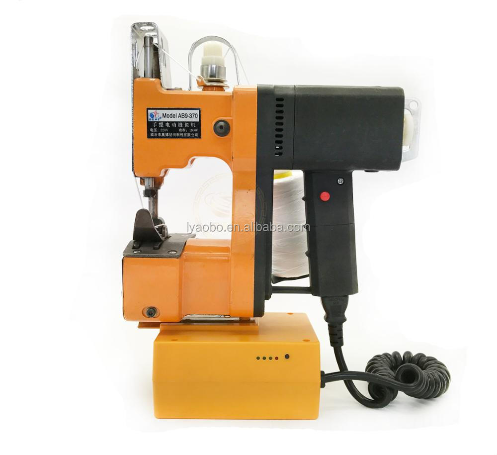 Portable handheld electric bag closer industrial sewing machine with battery for carrot bags