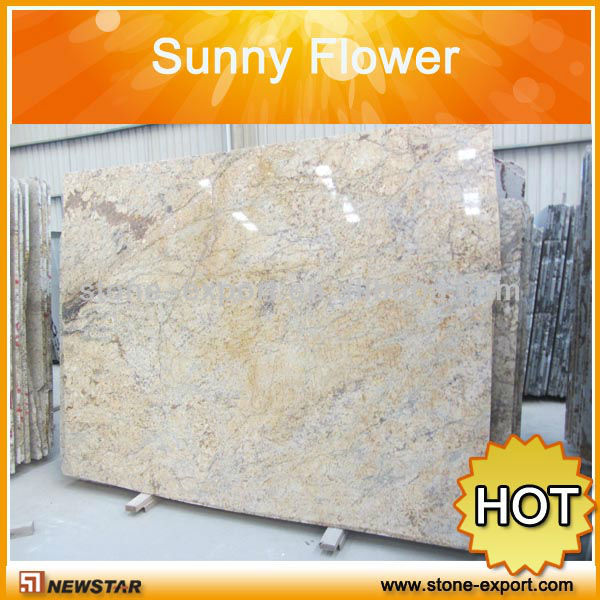 Golden Sunny Flower Granite