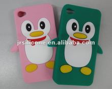 Cute Penguin Case hot Cartoon Silicone Case for Iphone4