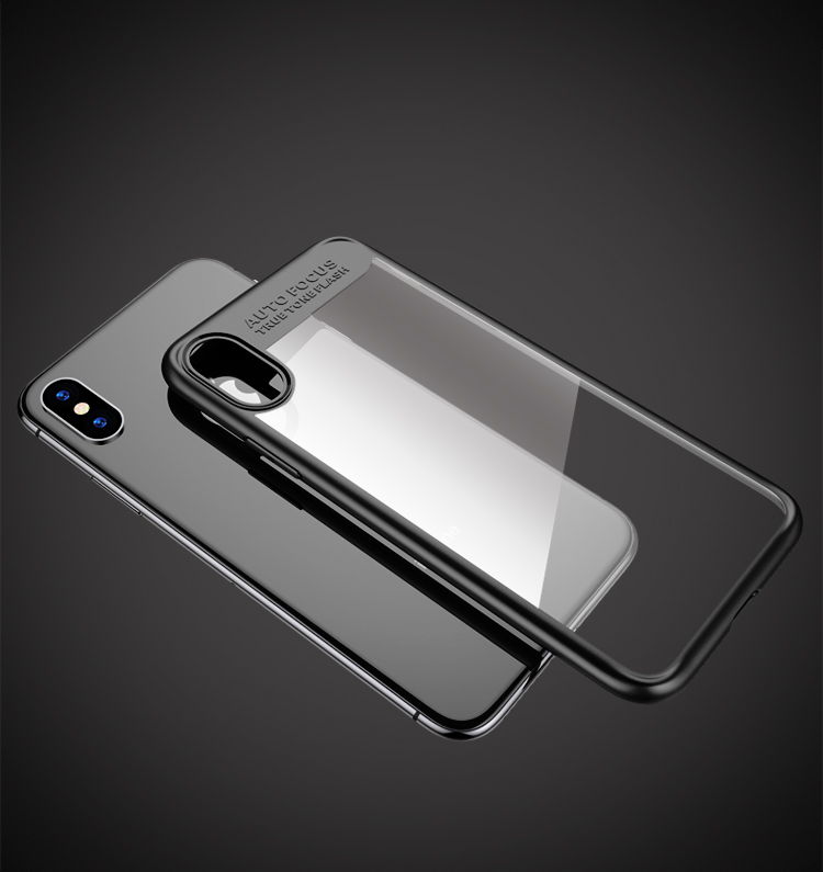 Colorful clear tpu for iPhone x cover case, ultra slim transparent case acrylic back cover for iphone x